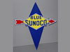 BLUE SUNOCO Arrow Gas Station Pump Sign