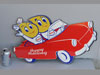 ESSO HAPPY MOTORING KIDS IN CAR Sign