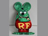Ed Roth 3D GREEN RAT FiNK FIgure Metal Sign