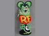 Green RAT FINK On The 8 Ball Metal Sign