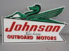 Green Seahorse JOHNSON OUTBOARD BOAT SIGN